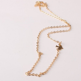76665d941d4 Jewelry Simple Metal And Peace Pigeon Short Women's Necklace And Clavicle  Chain